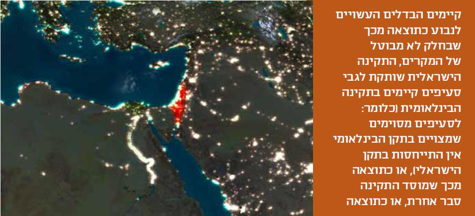 התקינה הישראלית שותקת לגבי סעיפים קיימים בתקינה הבינלאומית